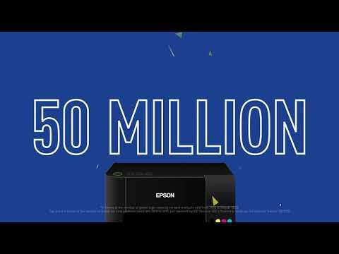 Celebrating 50 million Epson EcoTank printers sold worldwide!