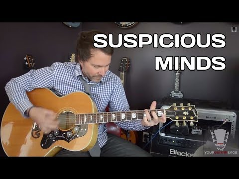 Baixar Suspicious Minds by Elvis Presley Guitar Lesson