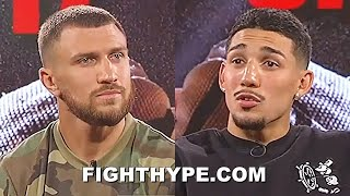 """TEOFIMO LOPEZ LOOKS LOMACHENKO DEAD IN THE EYE & ASKS """"WE GONNA DO THIS RIGHT NOW"""""""