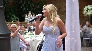 """BEST Wedding Speech - Maid of Honor """"Gold Digger"""" Rap"""