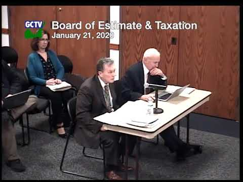 Board of Estimate & Taxation, January 21, 2020
