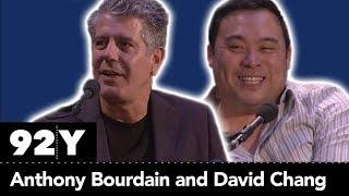 Anthony Bourdain and David Chang with Budd Mishkin