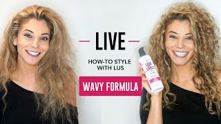 How to Style with LUS Brands Wavy *LIVE*! - YouTube
