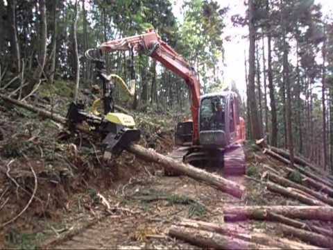AFM 400s stroke head on Hitachi excavators in Japan