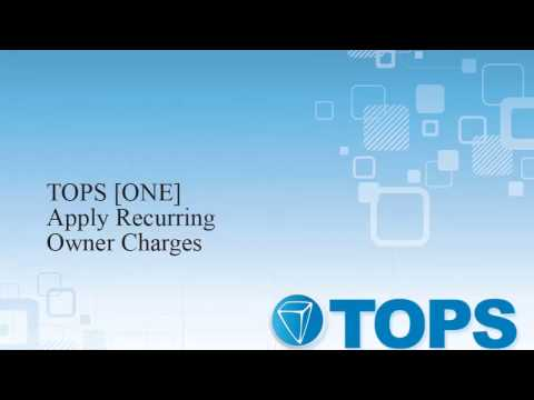 TOPS [ONE] Tutorial: Apply Owner AR Charges