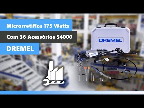 Micro Retífica 4000 Com 36 Acessórios 110 Volts Dremel - Vídeo explicativo
