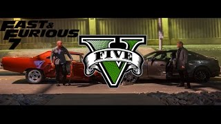 GTA V Fast And Furious 7 Cemetery Chase - Dom Vs Deckard