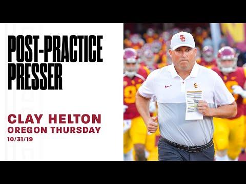 USC Football - 2019 Oregon Thursday: Clay Helton