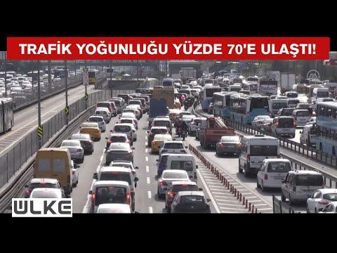 İstanbul'da sokağa çıkma kısıtlaması öncesinde trafik yoğunluğu yaşanıyor