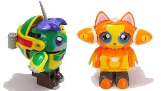 Siêu nhân biến hình Rùa thông minh - Mèo tinh nghịch - Siêu robot khổng lồ sắt