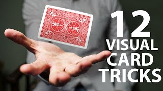 12 VISUAL Card Tricks Anyone Can Do | Revealed