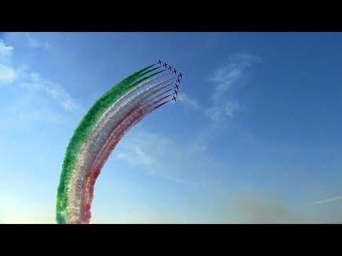 Látványos légiparádé Itáliában