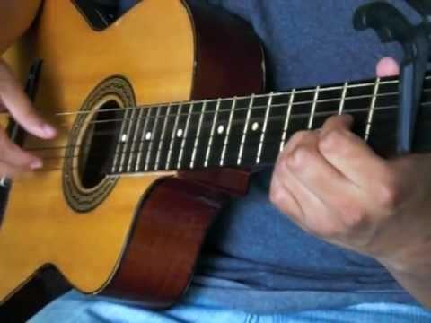 EN LA CRUZ Do primero vi la luz(Solo guitarra acustica) Musica cristiana