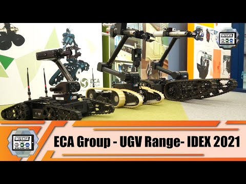 IDEX 2021 ECA Group from France presents it full range of UGVs Unmanned Ground Vehicles