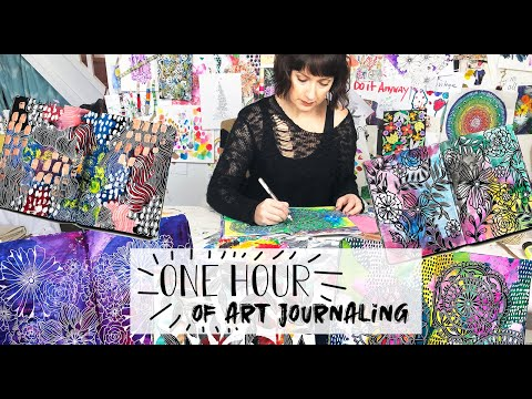 one hour of art journaling!