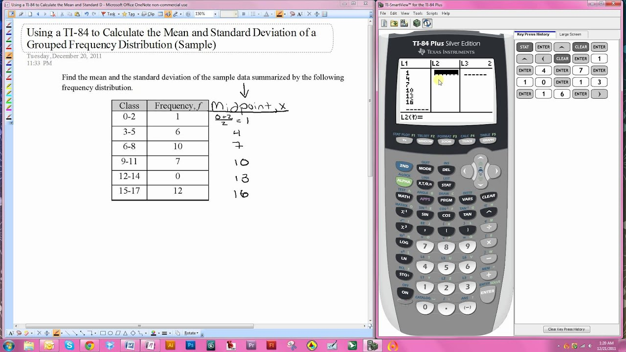 Using The Ti 84 For The Mean And Standard Deviation Of A