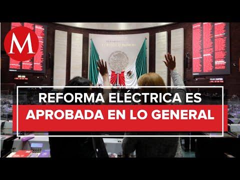 Diputados aprueban en lo general reforma eléctrica de AMLO; discuten reservas