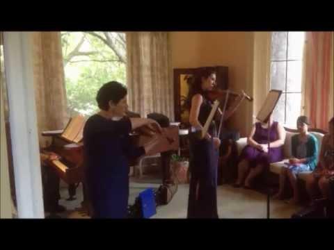 Bach Concerto for 2 Violins. Student/Teacher duo (Micol Gomez/Larisa Kopylovsky).