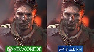 Battlefield 5 PS4 Pro vs Xbox One X Graphics Comparison, Frostbite Engine Analyzed!