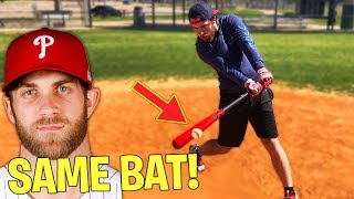 Can I Hit A Home Run With BRYCE HARPER'S MLB Baseball Bat?