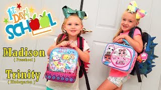 First Day of School! Kindergarten and Preschool for Trinity and Madison!!! Back to School!