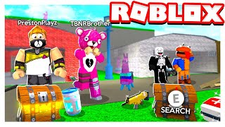 ROBLOX 2 PLAYER FORTNITE TYCOON with MY LITTLE BROTHER!