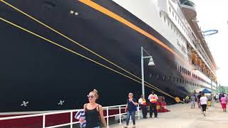Disney Magic Cruise next to a GIANT Princess Ship in Antigua