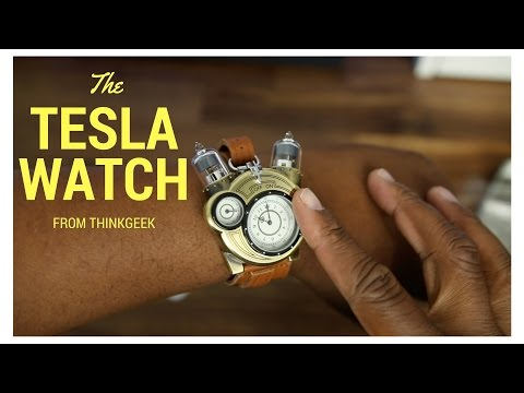 ThinkGeek Tesla Watch Unboxing and Review