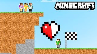 HALF HEART RACE CHALLENGE! (Minecraft)