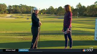Golf Channel Coverage of Brittany Lincicome at 2017 Sandra Gal Charity Challenge