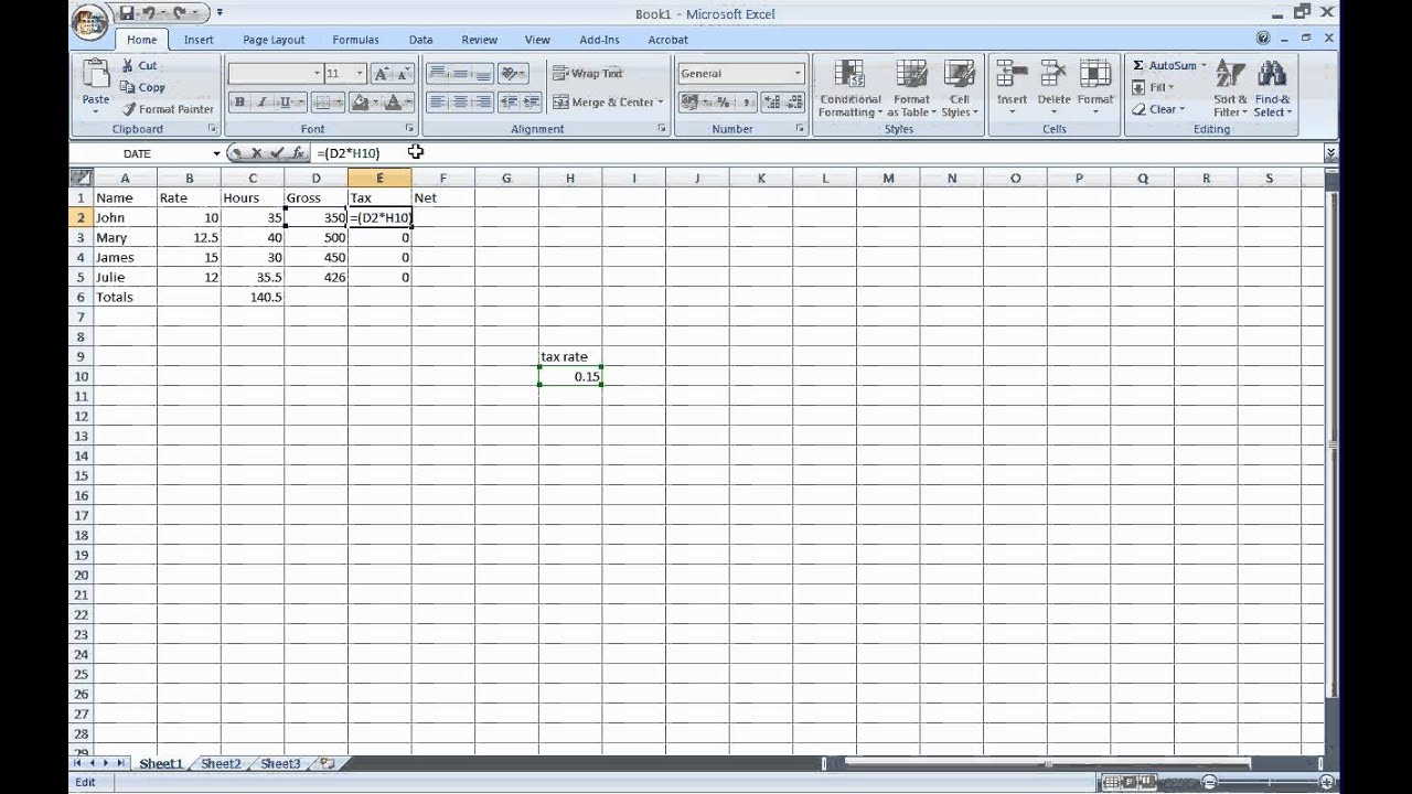 Excel Basics A2 Dollar Sign To Anchor Cells For Copy And