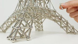 The Eiffel Tower made of Magnets | Magnetic Games