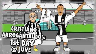 ⚫⚪RONALDO's FIRST DAY AT JUVENTUS⚪⚫ (Parody CR7 transfer cartoon)
