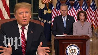 Watch President Trump's full primetime border wall speech and the Democratic response