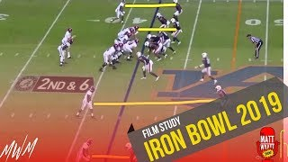 Film Study: IRON BOWL 2019 (Auburn def. Alabama)