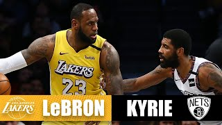 LeBron edges Kyrie with a triple-double in their first Lakers-Nets showdown | 2019-20 NBA Highlights