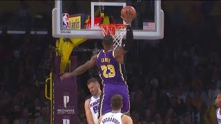 LeBron James MONSTER DUNK Over Namanja Bjelica - Kings vs Lakers | November 15 | 2019-20 NBA Season
