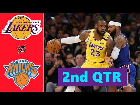 Los Angeles Lakers vs. New York Knicks Full Highlights 2nd Quarter | NBA Season 2021