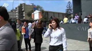 Raw Video: Buildings Evacuated After Peru Quake