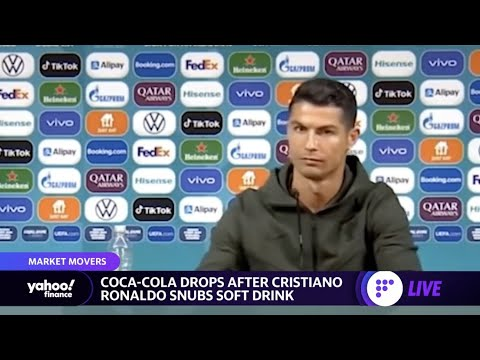 Cristiano Ronaldo moves Coca-Cola bottle out of the way at presser and says, 'Aqua,' stock drops