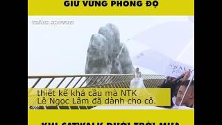 Hoa hậu Kỳ Duyên catwalk dưới mưa .... tại Bà Nà