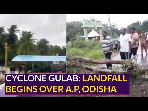 Cyclone Gulab: Landfall begins over Coastal Andhra Pradesh and Orissa
