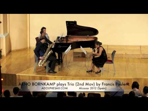 ARNO BORNKAMP plays Trio 2nd Mov by Francis Poulenc