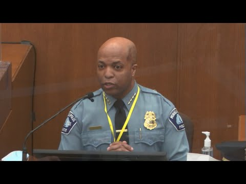 MPD Chief Testifies Against Derek Chauvin