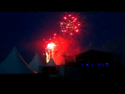 Roxette + fireworks at QSTOCK 2012