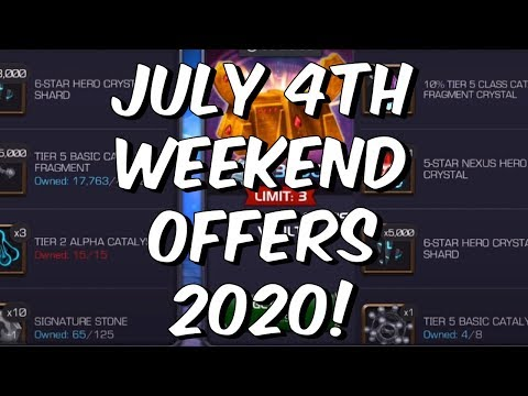 July 4th Weekend Offers 2020 - Live Reaction & Review - Marvel Contest of Champions