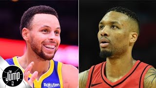 Steph Curry/D'Angelo Russell or Damian Lillard/CJ McCollum: Which backcourt is better? | The Jump