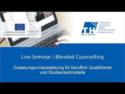 Webinar   Zulassung zum Studium für beruflich Qualifizierte.