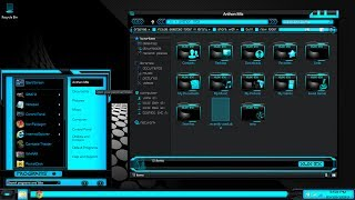 windows 8 themes black blue xux ek