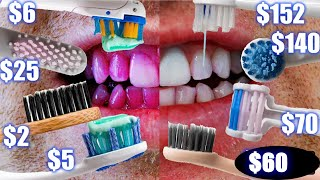 CHEAP vs EXPENSIVE TOOTHBRUSH COMPARISON! Electric & Manual Results! Sonicare, Oral B, Quip Waterpik